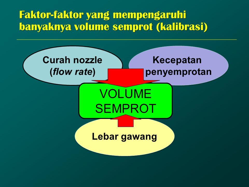 Faktor-faktor yang mempengaruhi banyaknya volume semprot (kalibrasi)
