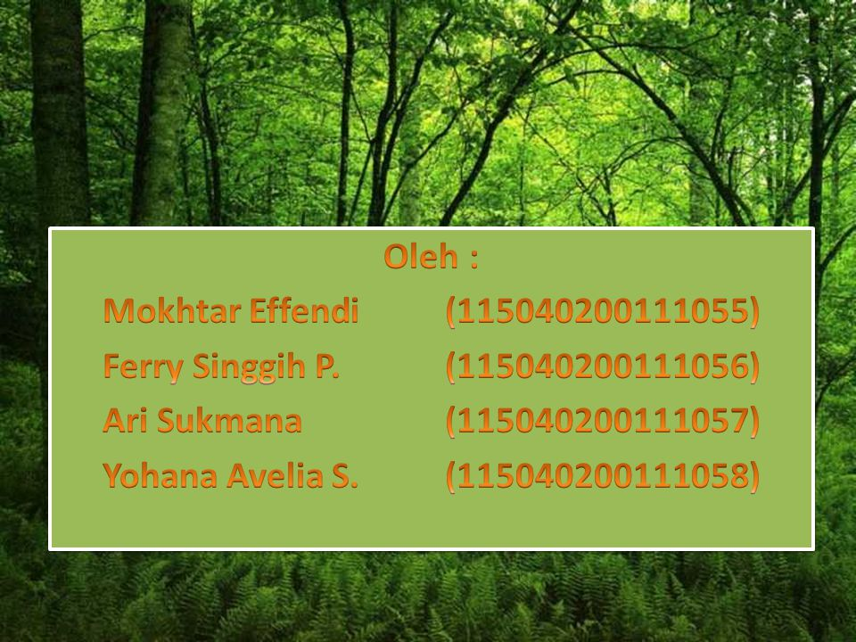 PESTISIDA Oleh : Mokhtar Effendi (115040200111055)