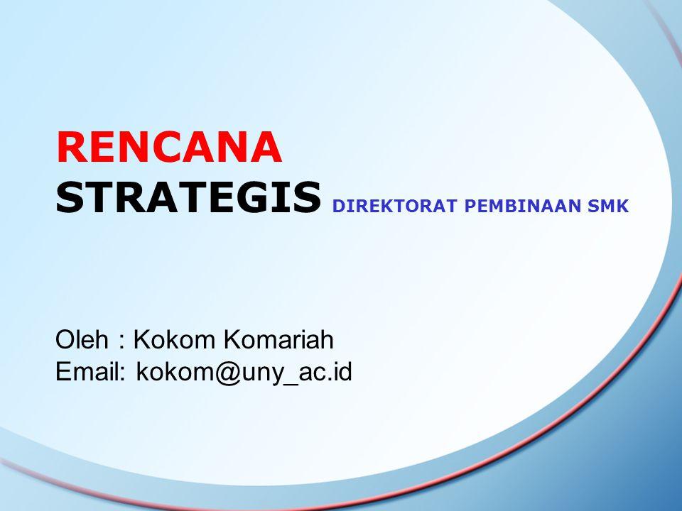 RENCANA STRATEGIS DIREKTORAT PEMBINAAN SMK