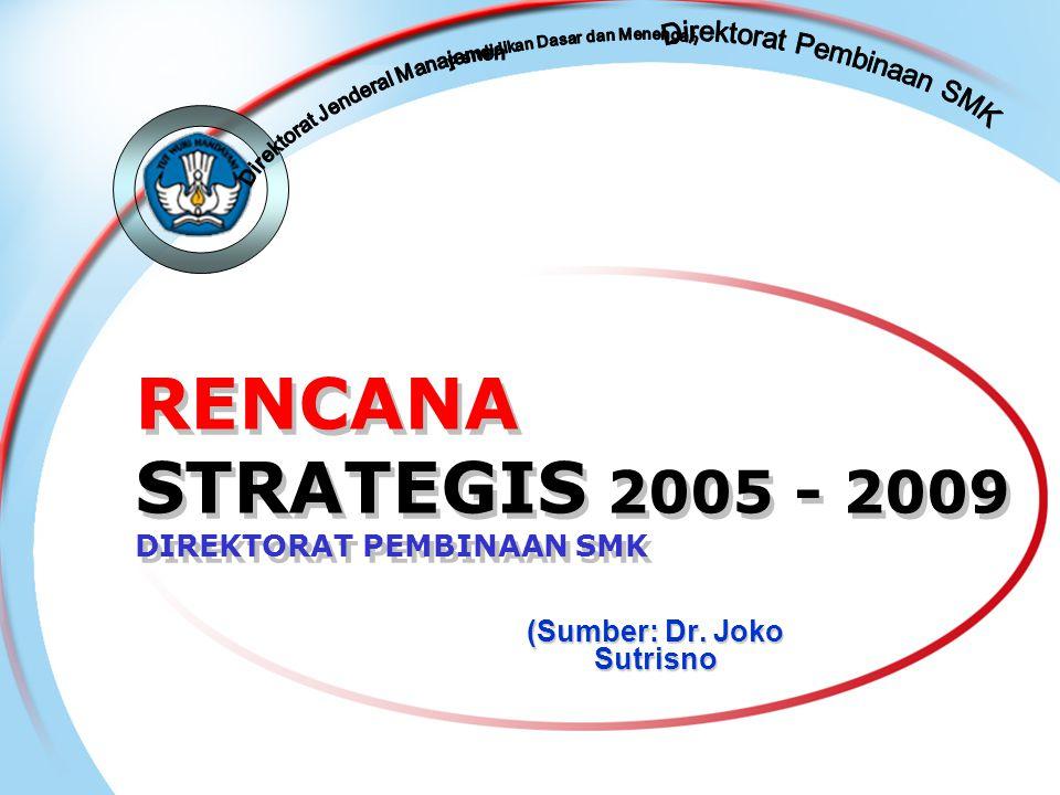 RENCANA STRATEGIS 2005 - 2009 DIREKTORAT PEMBINAAN SMK