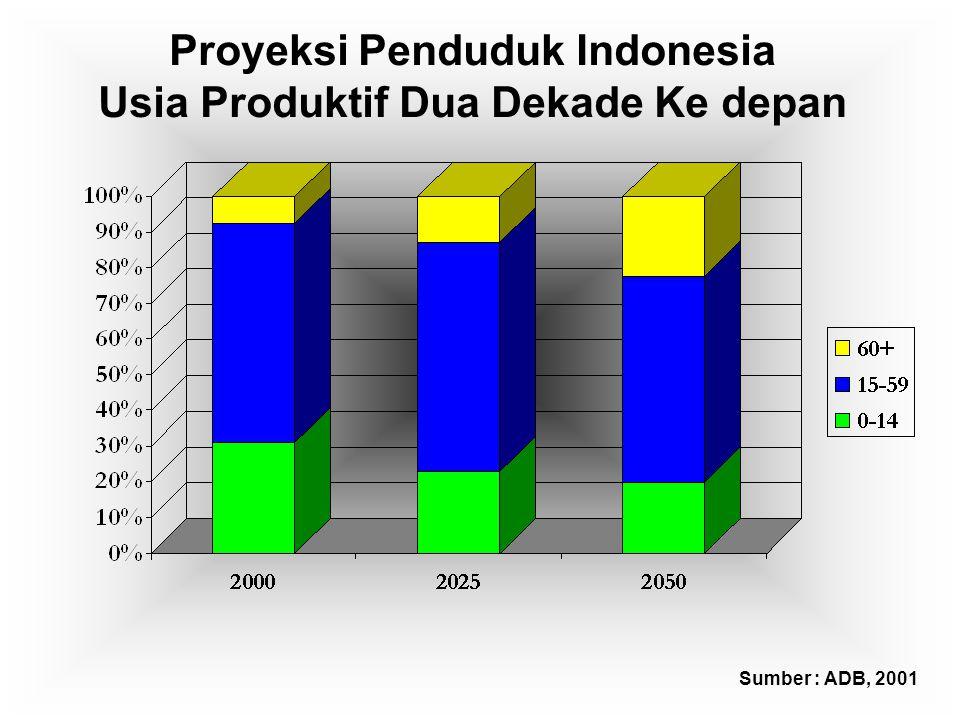 Proyeksi Penduduk Indonesia Usia Produktif Dua Dekade Ke depan