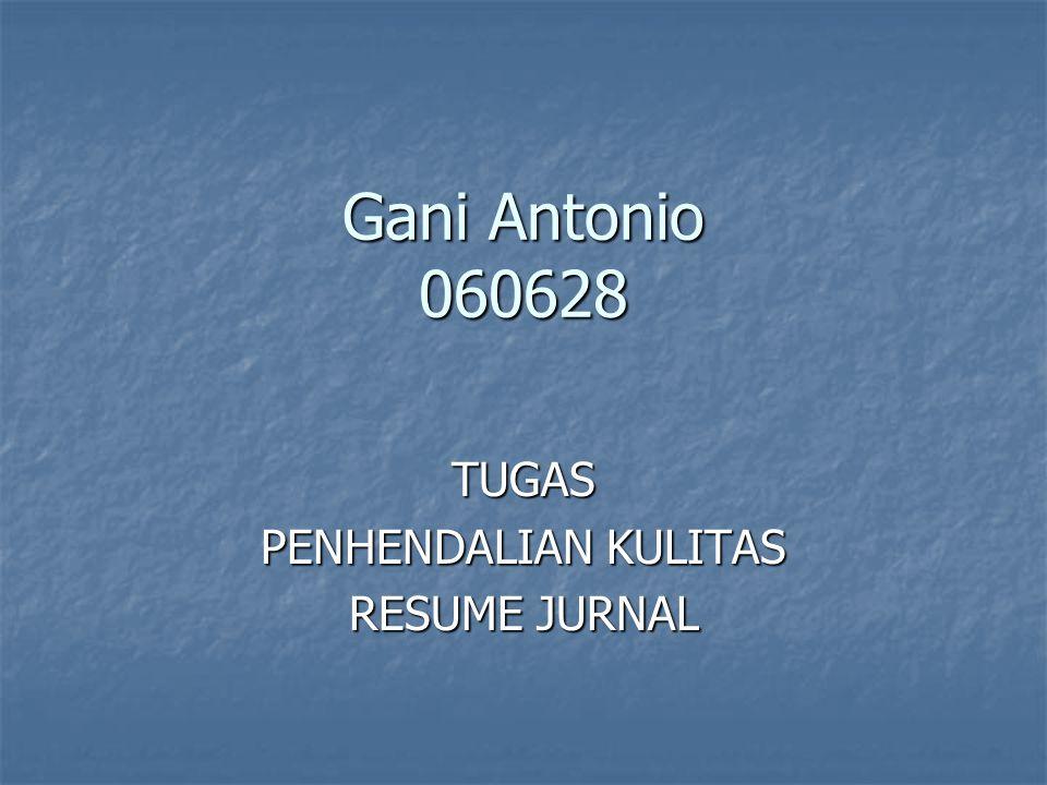 TUGAS PENHENDALIAN KULITAS RESUME JURNAL