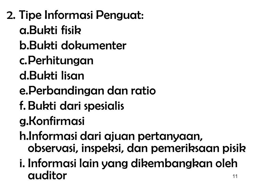2. Tipe Informasi Penguat: