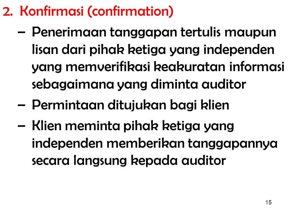2. Konfirmasi (confirmation)