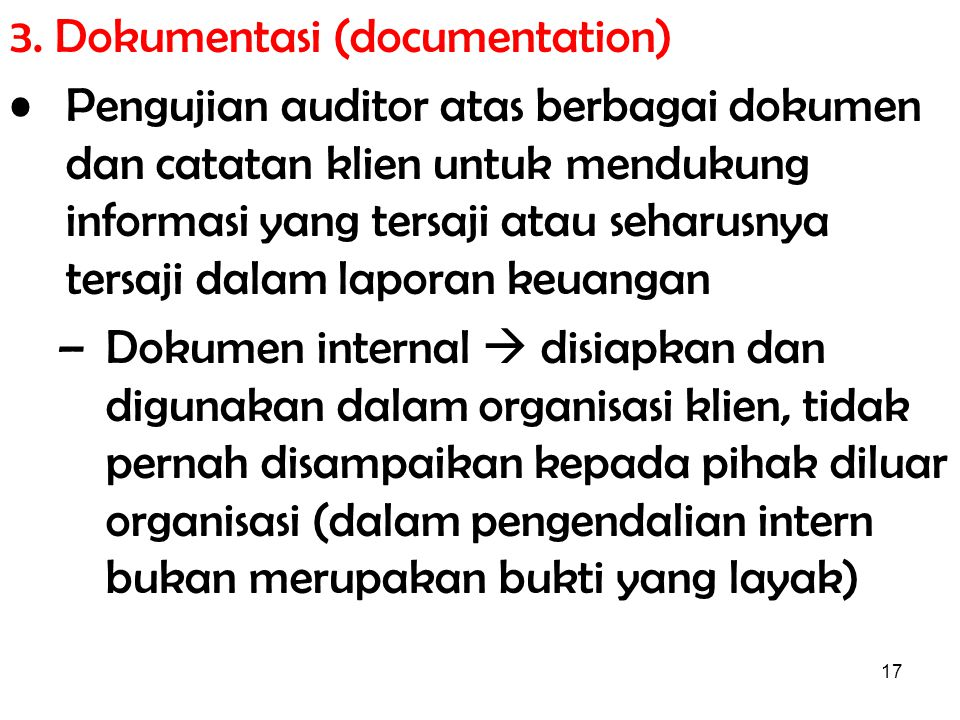 3. Dokumentasi (documentation)