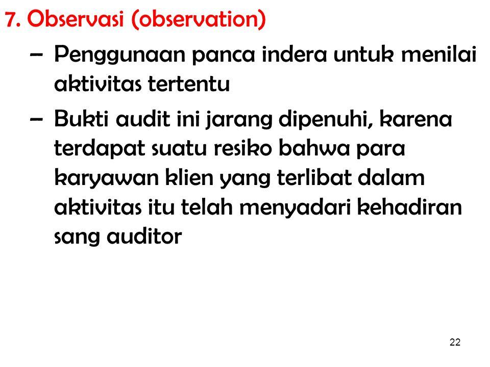 7. Observasi (observation)
