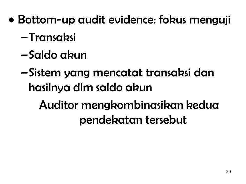 Auditor mengkombinasikan kedua pendekatan tersebut