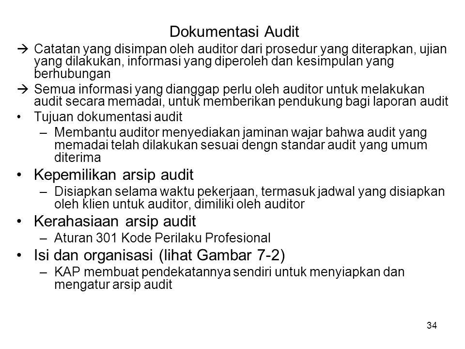 Kepemilikan arsip audit