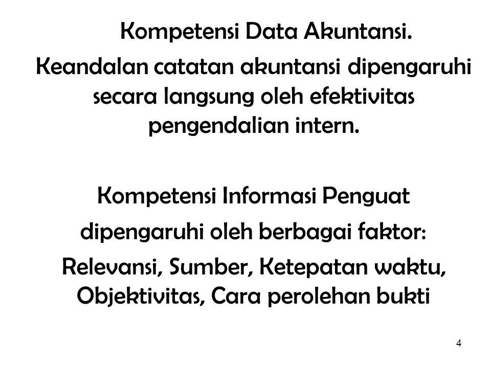 Kompetensi Data Akuntansi.