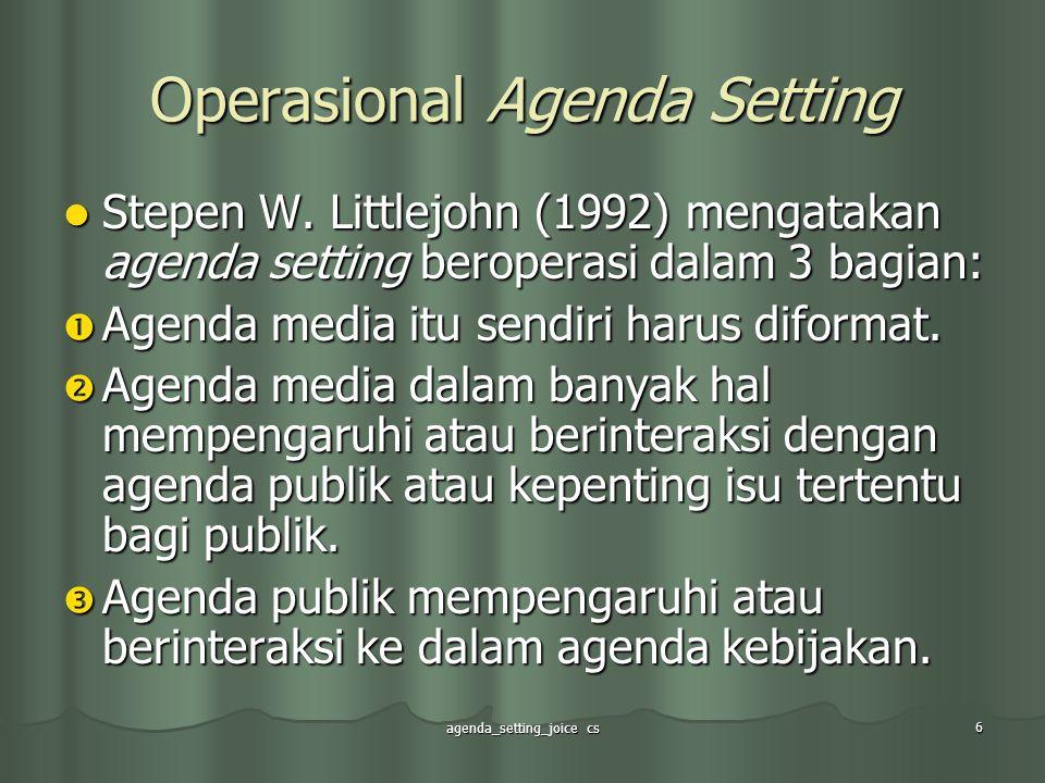Operasional Agenda Setting