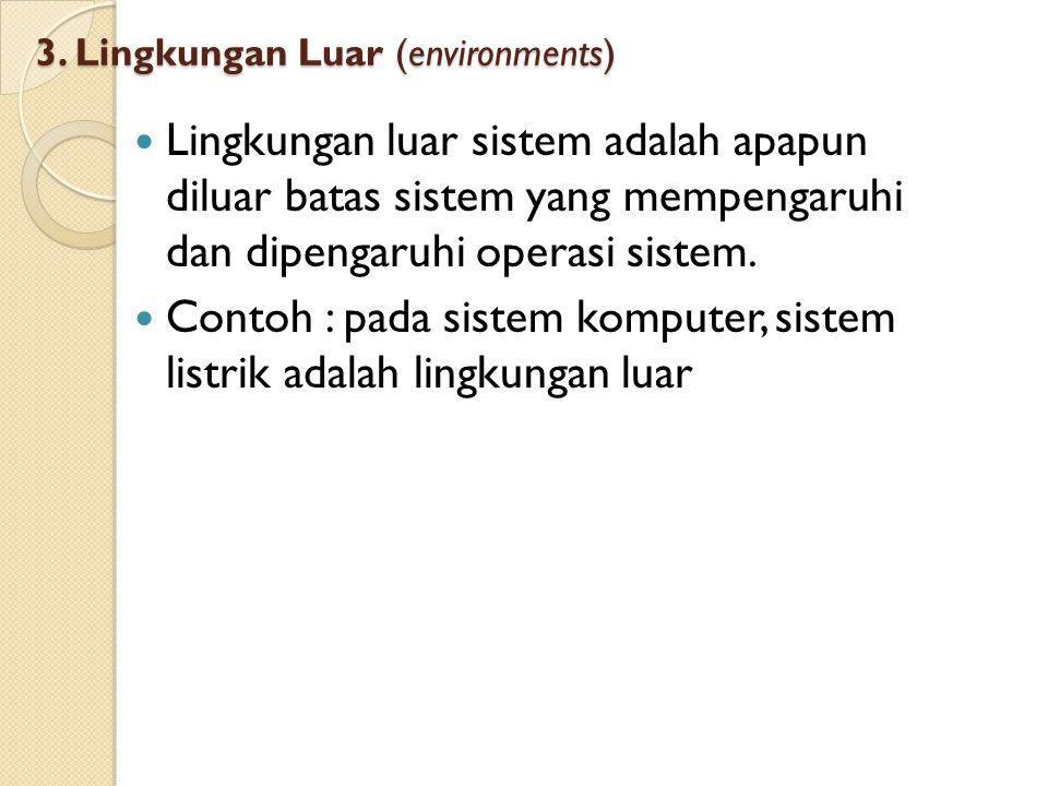 3. Lingkungan Luar (environments)