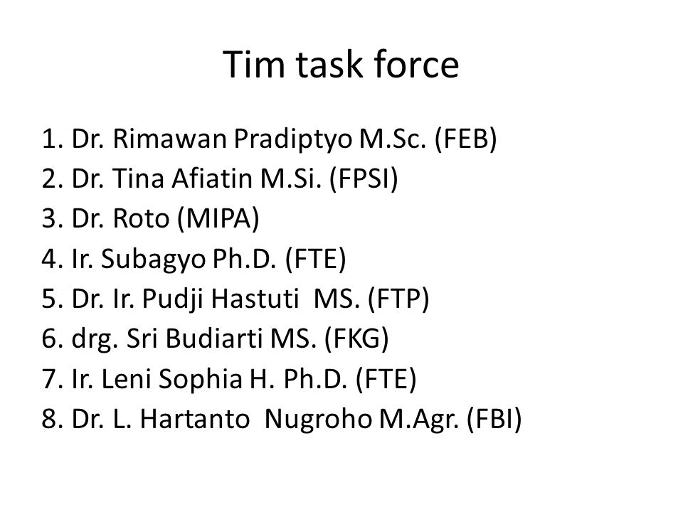 Tim task force