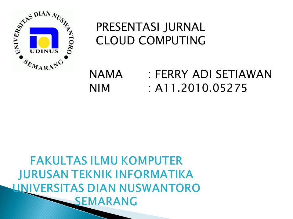 PRESENTASI JURNAL CLOUD COMPUTING