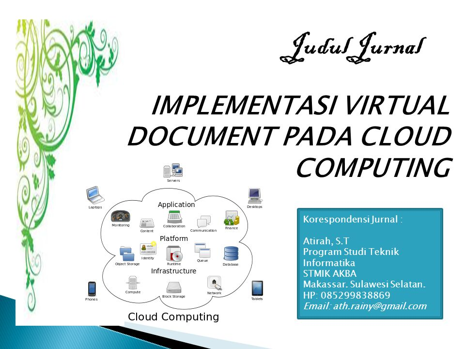 Judul Jurnal IMPLEMENTASI VIRTUAL DOCUMENT PADA CLOUD COMPUTING