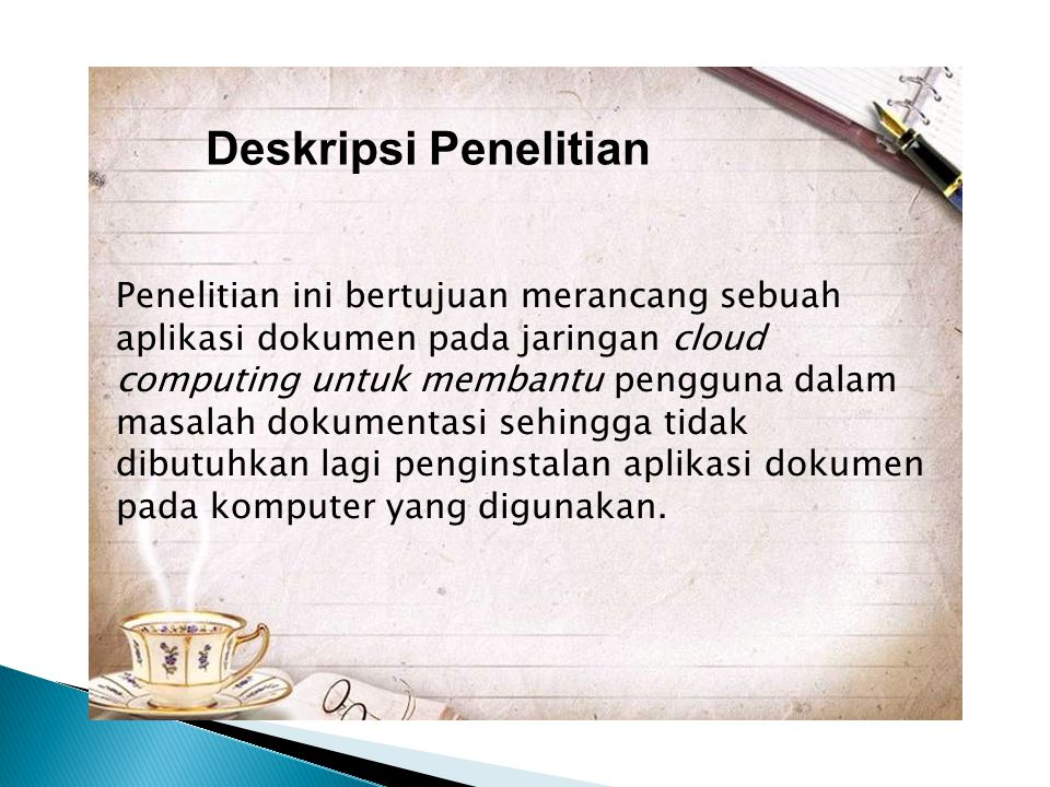 Deskripsi Penelitian