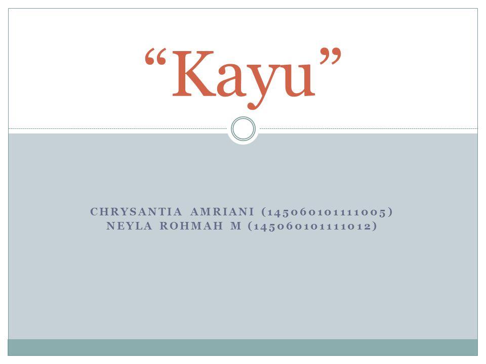 Chrysantia Amriani (145060101111005) Neyla Rohmah M (145060101111012)