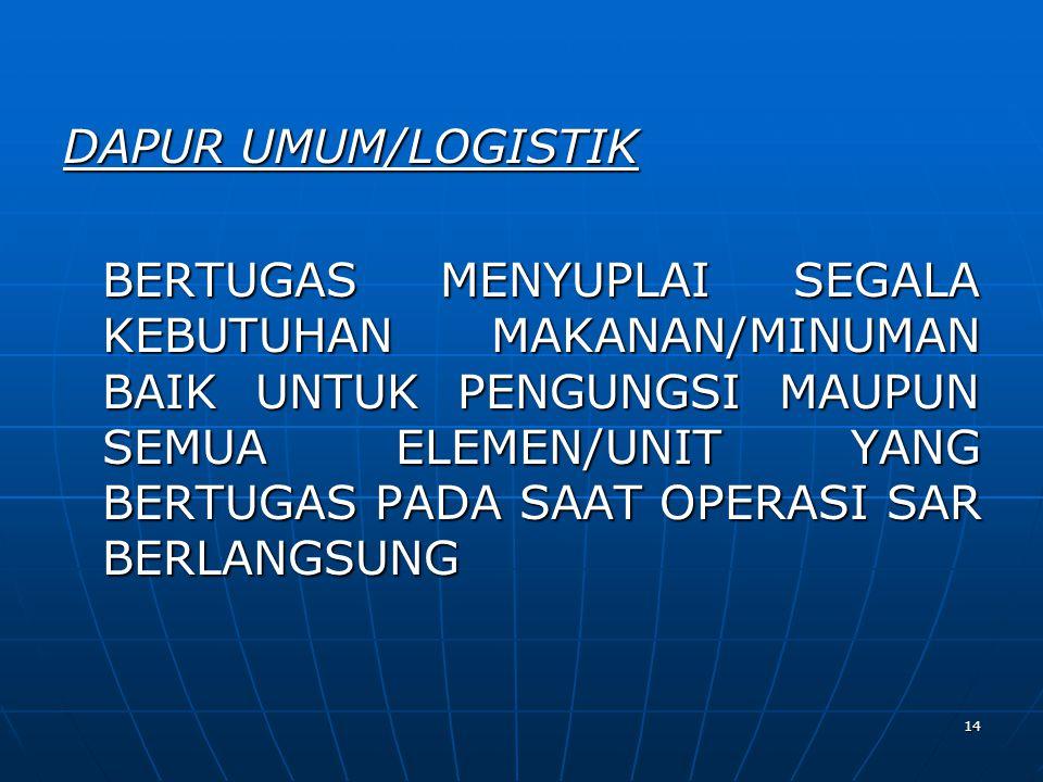 DAPUR UMUM/LOGISTIK