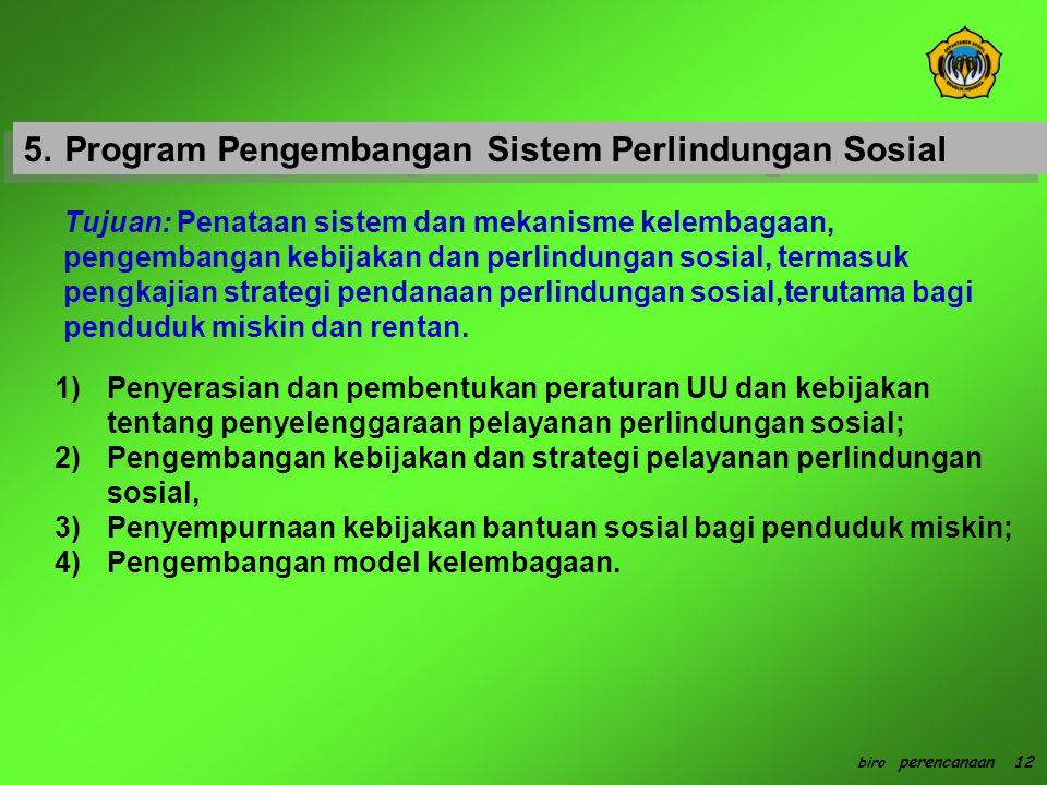 5. Program Pengembangan Sistem Perlindungan Sosial