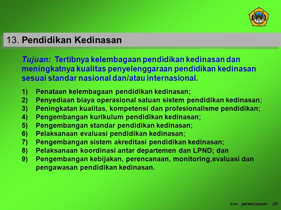 13. Pendidikan Kedinasan