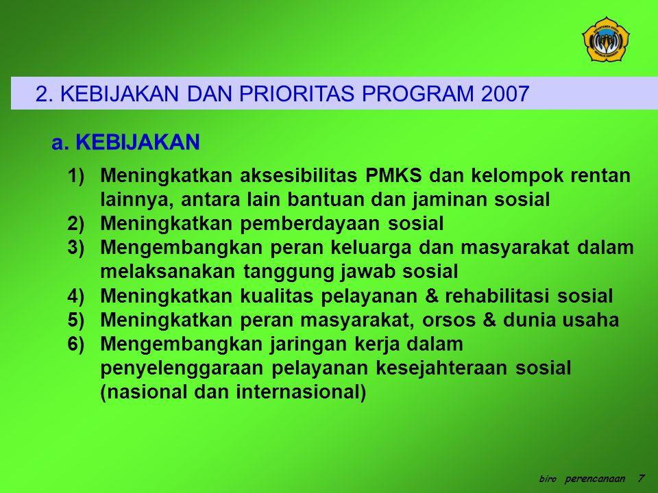 2. KEBIJAKAN DAN PRIORITAS PROGRAM 2007