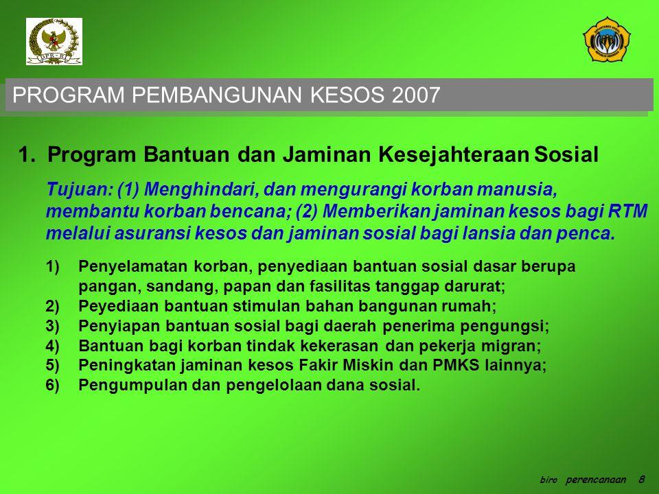 PROGRAM PEMBANGUNAN KESOS 2007