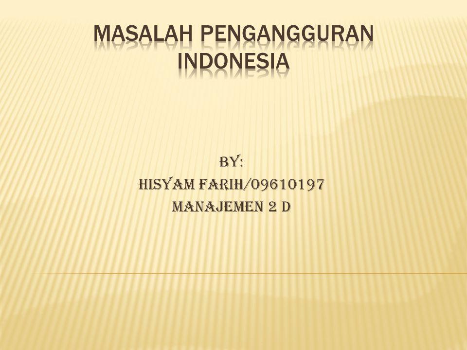 Masalah Pengangguran Indonesia