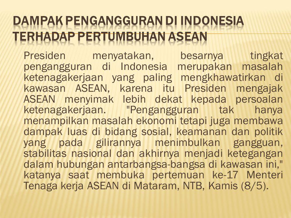 Dampak Pengangguran Di Indonesia Terhadap Pertumbuhan Asean