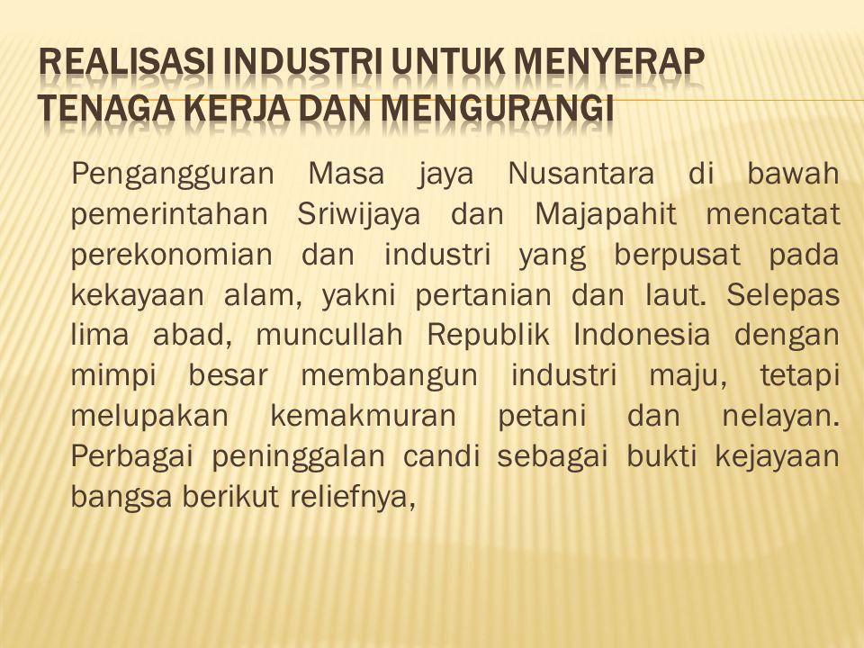 Realisasi Industri Untuk Menyerap Tenaga Kerja dan Mengurangi