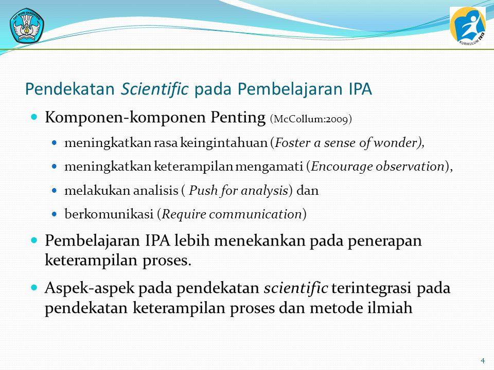 Pendekatan Scientific pada Pembelajaran IPA
