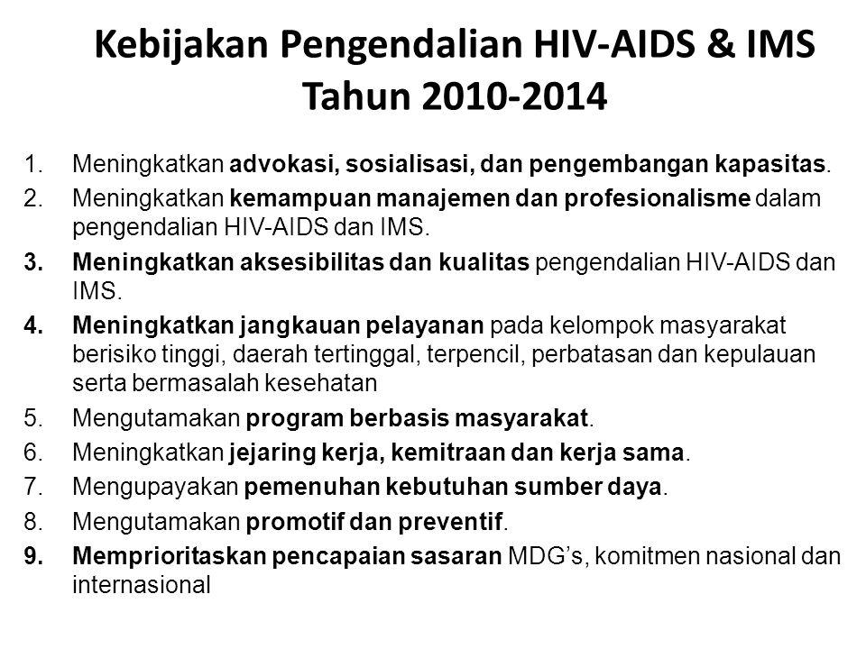 Kebijakan Pengendalian HIV-AIDS & IMS Tahun 2010-2014