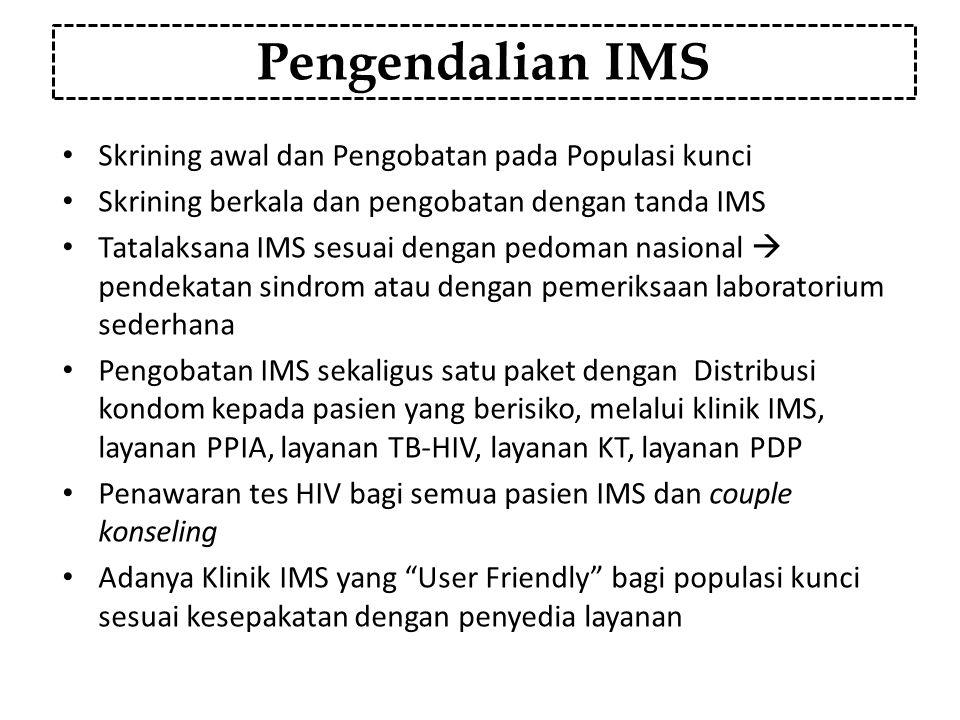 Pengendalian IMS Skrining awal dan Pengobatan pada Populasi kunci
