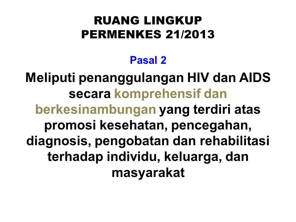 RUANG LINGKUP PERMENKES 21/2013