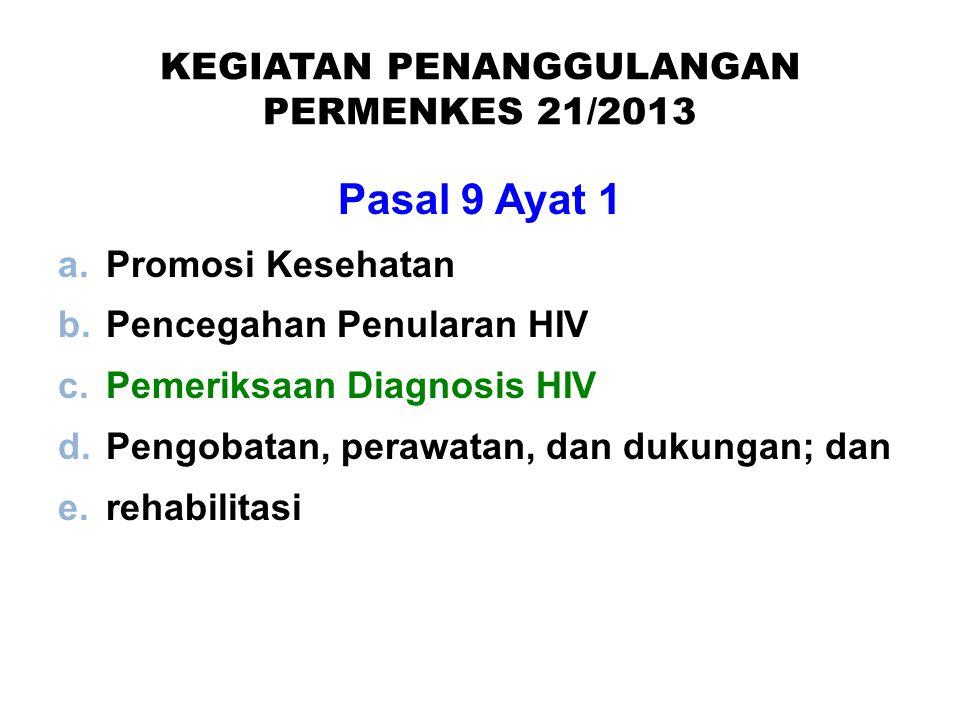 KEGIATAN PENANGGULANGAN PERMENKES 21/2013