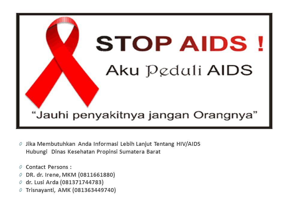 Jika Membutuhkan Anda Informasi Lebih Lanjut Tentang HIV/AIDS
