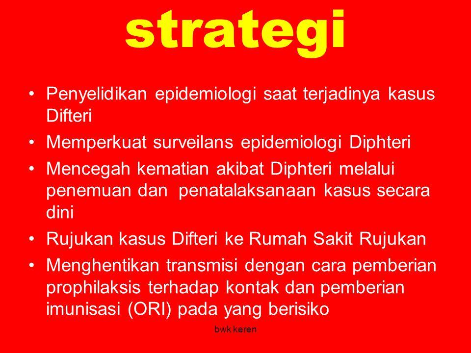 strategi Penyelidikan epidemiologi saat terjadinya kasus Difteri