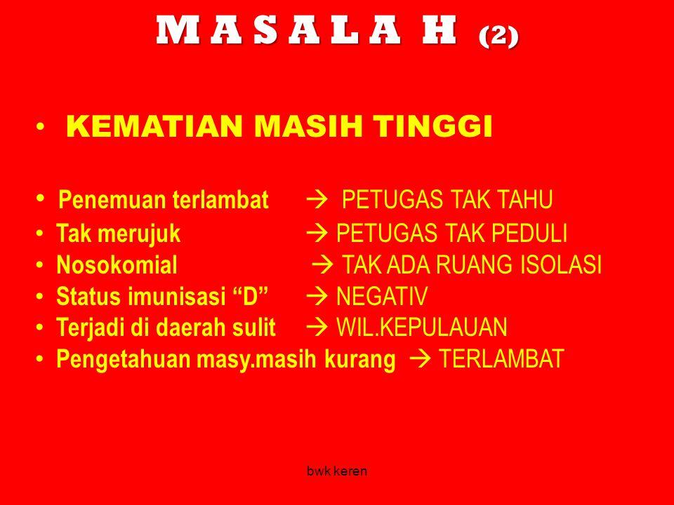 M A S A L A H (2) KEMATIAN MASIH TINGGI