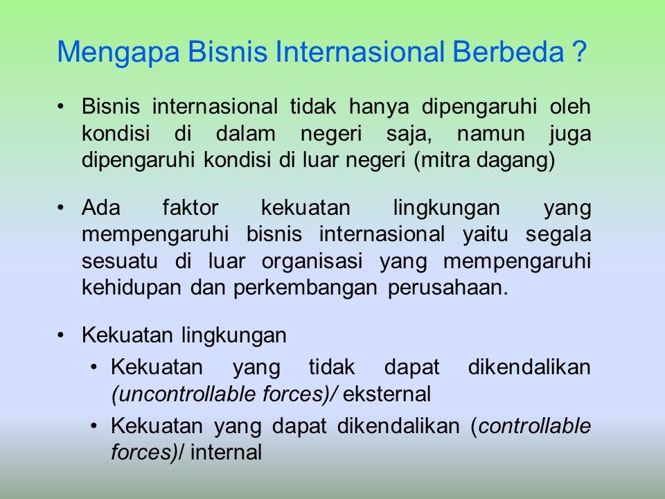 Mengapa Bisnis Internasional Berbeda