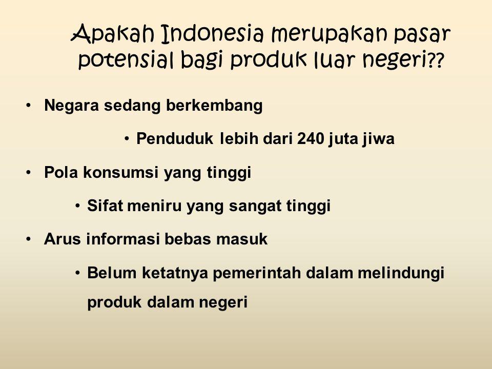 Apakah Indonesia merupakan pasar potensial bagi produk luar negeri