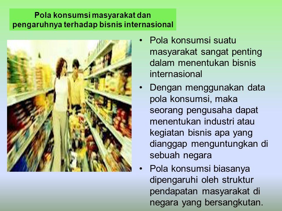Pola konsumsi masyarakat dan pengaruhnya terhadap bisnis internasional