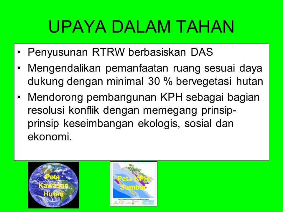 UPAYA DALAM TAHAN Penyusunan RTRW berbasiskan DAS