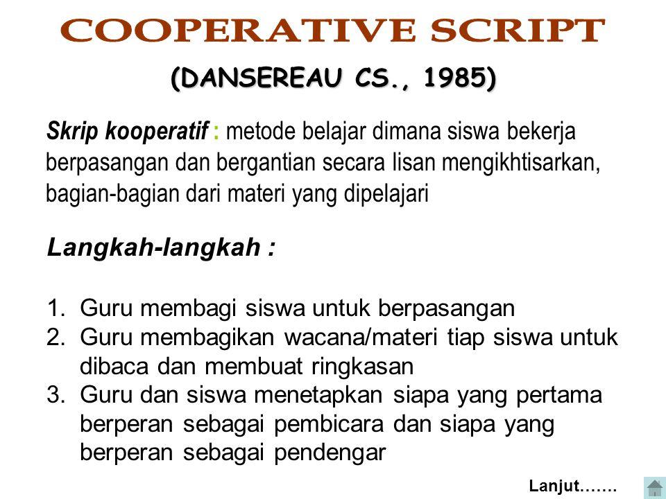 COOPERATIVE SCRIPT (DANSEREAU CS., 1985)