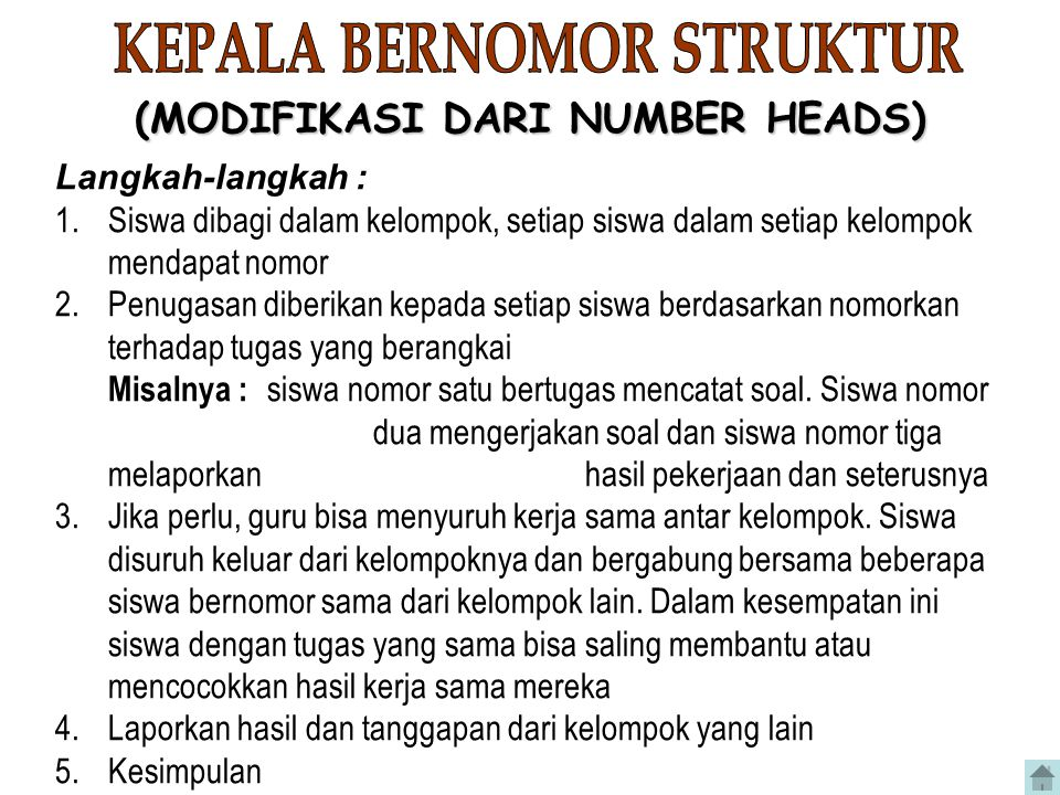 KEPALA BERNOMOR STRUKTUR (MODIFIKASI DARI NUMBER HEADS)