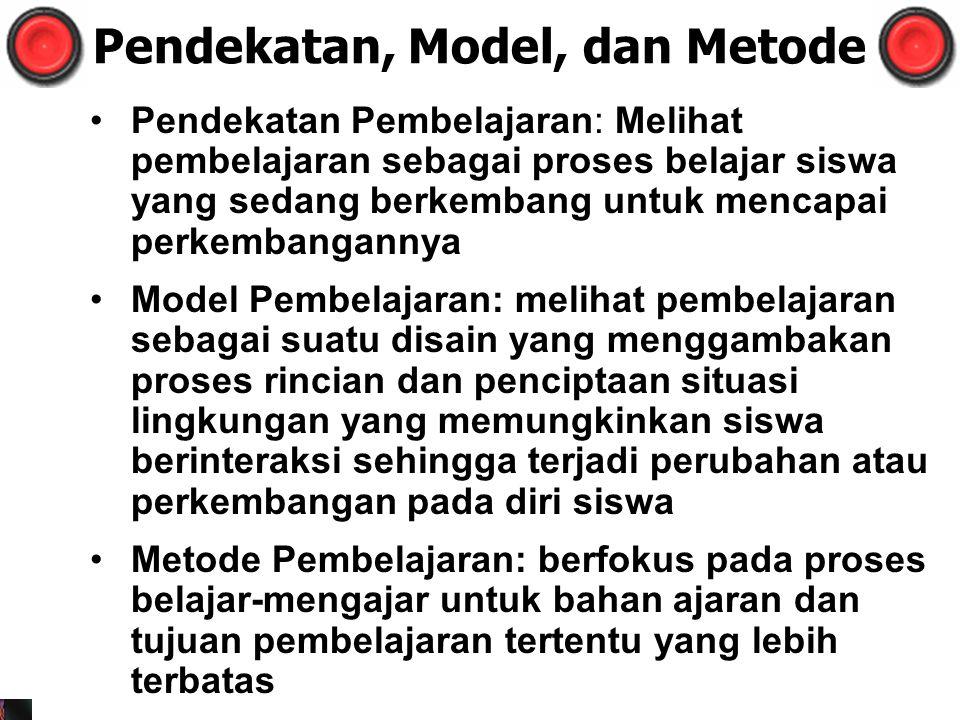 Pendekatan, Model, dan Metode