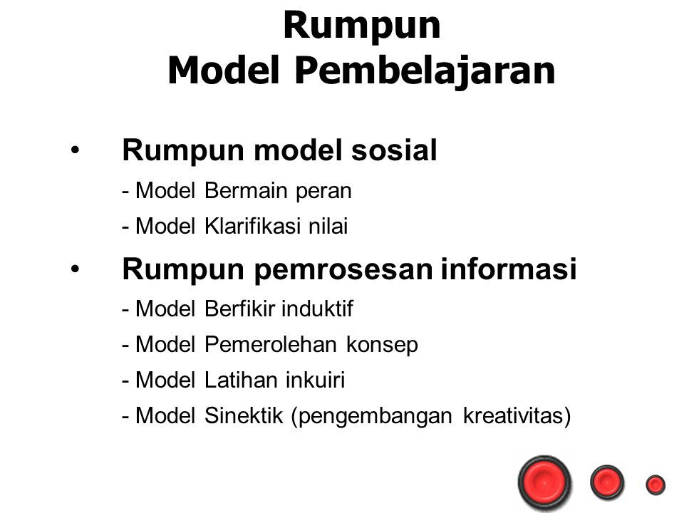 Rumpun Model Pembelajaran