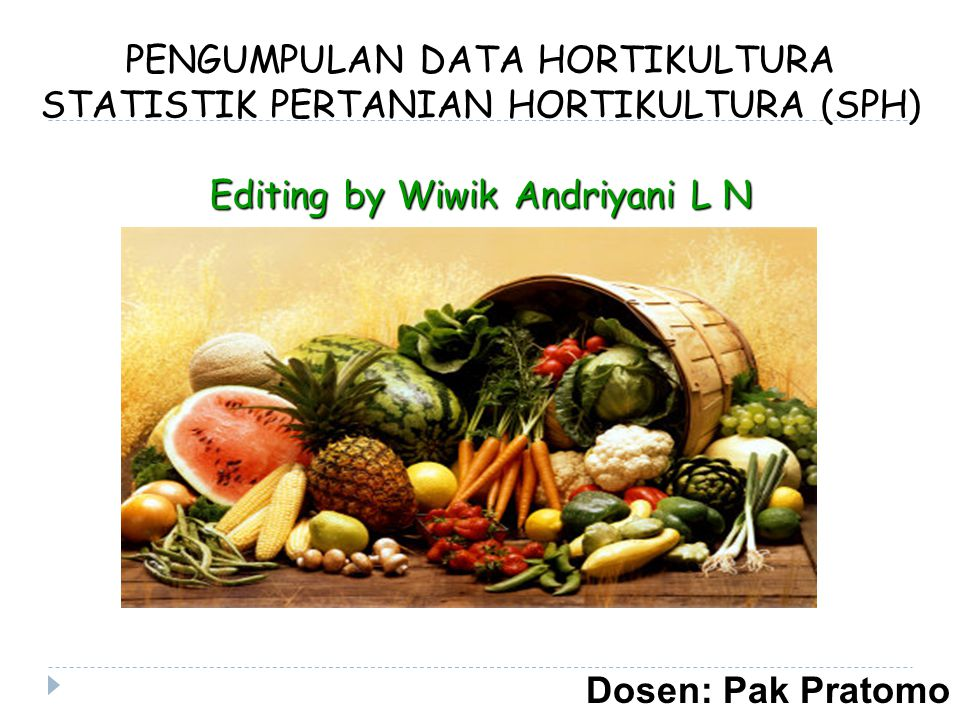 PENGUMPULAN DATA HORTIKULTURA STATISTIK PERTANIAN HORTIKULTURA (SPH)