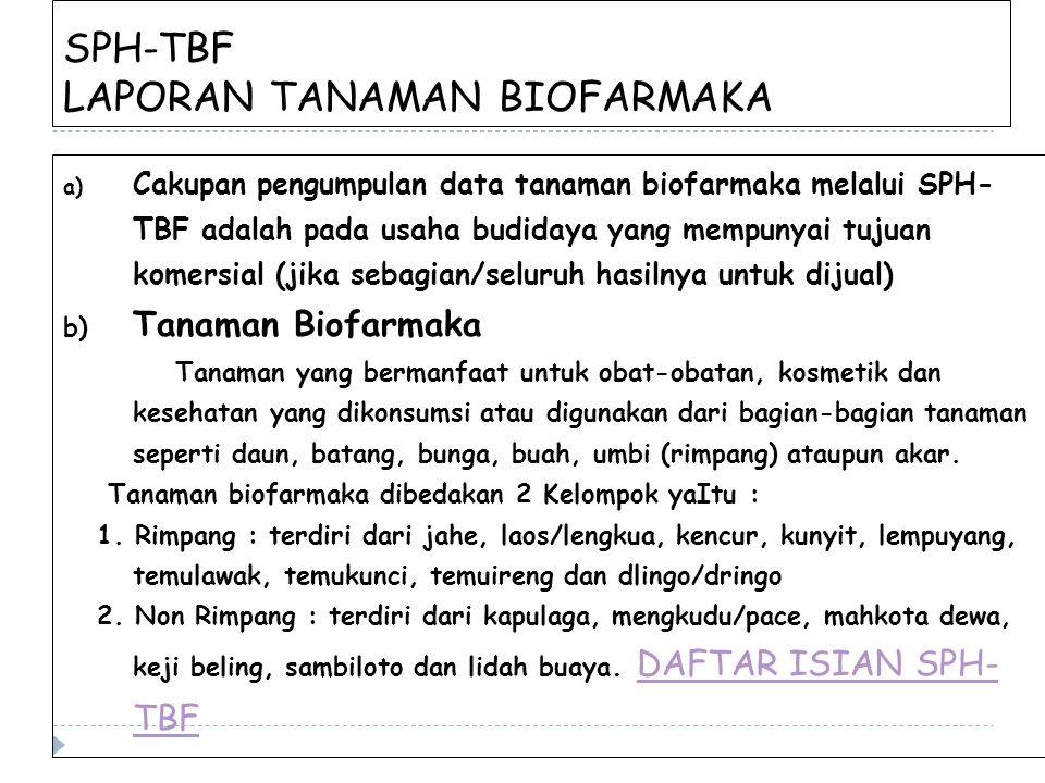SPH-TBF LAPORAN TANAMAN BIOFARMAKA