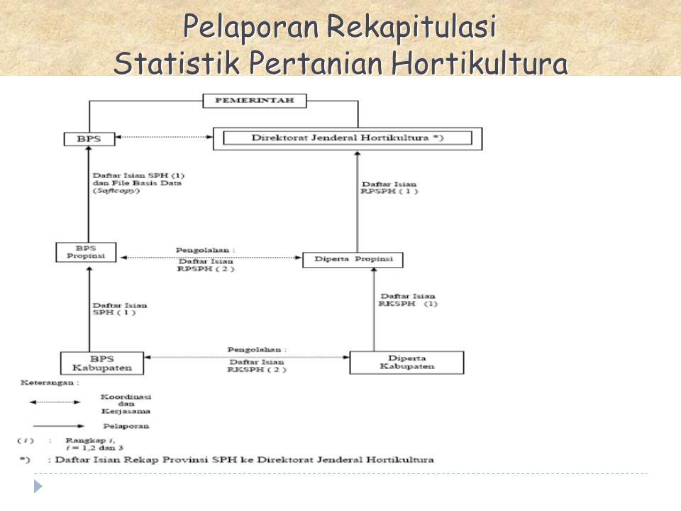 Pelaporan Rekapitulasi Statistik Pertanian Hortikultura