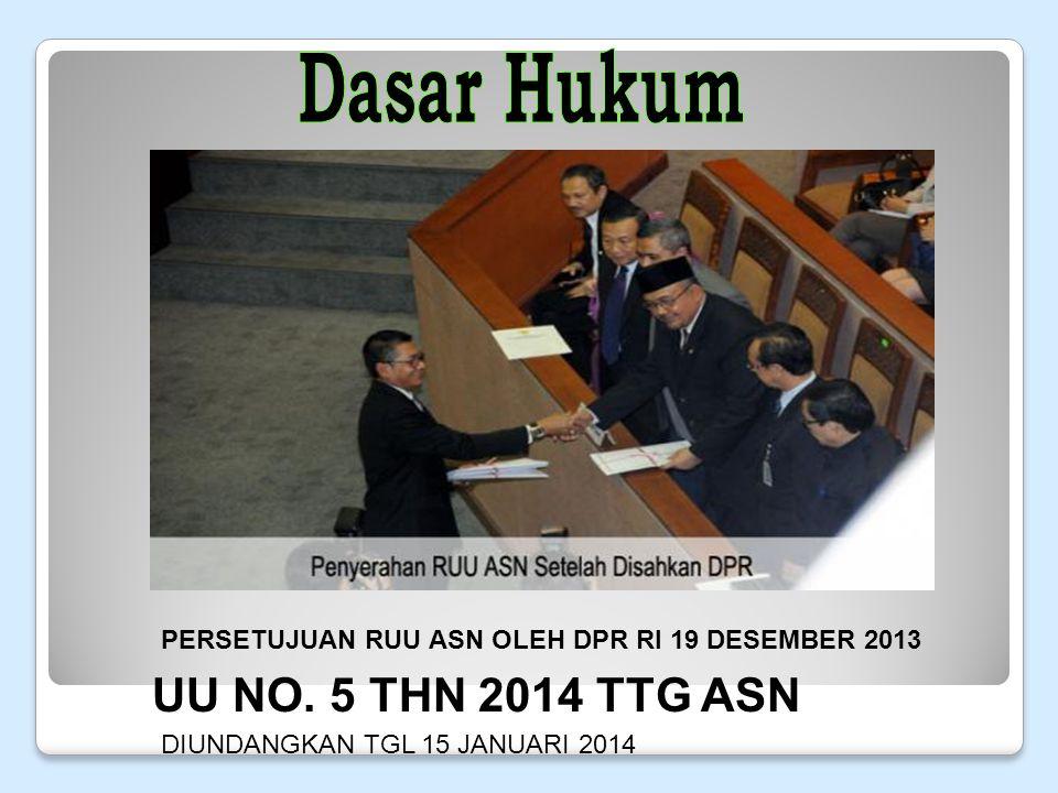Dasar Hukum UU NO. 5 THN 2014 TTG ASN