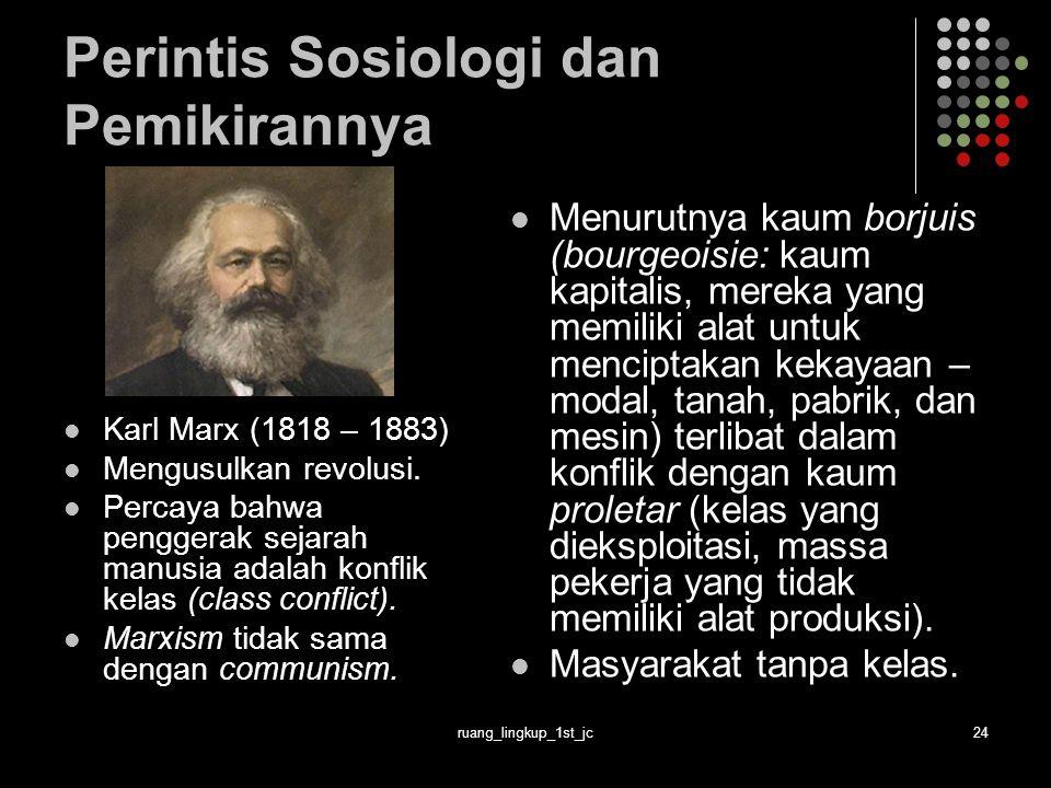 Perintis Sosiologi dan Pemikirannya