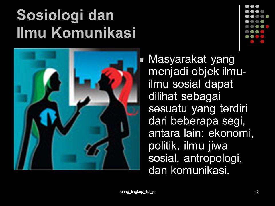 Sosiologi dan Ilmu Komunikasi